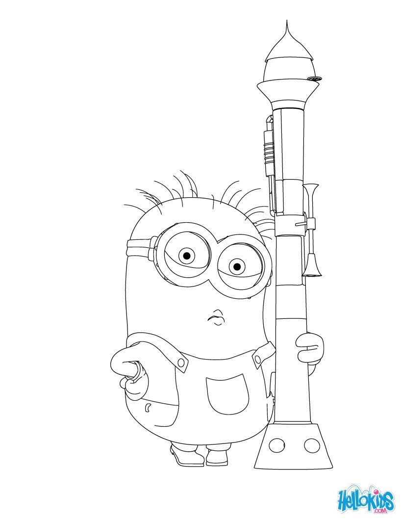 Minion from Despicable Me coloring page. More Movie and Minions ...