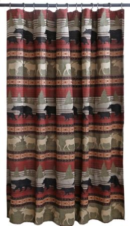 Ontario Wilderness Shower Curtain By Carstens Inc From Kellsson Home Linens Cabin Shower Curtain Shower Curtain Neutral Bathroom Decor