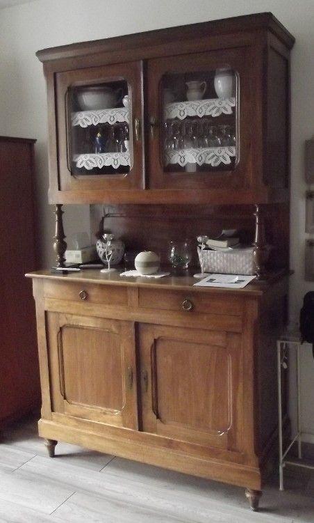 Enormement De Travaux Sur Cette Sublime Armoire En Chene J Ai Du Toute La Demonter Afin De La Redresser Me Creuser La Rustic Kitchen Furniture Diy Furniture