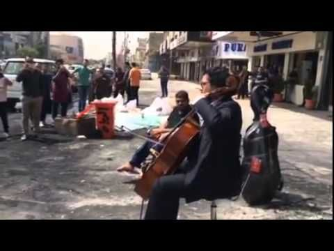 After car bombs explode, an Iraqi musician shows up with his cello - The Washington Post