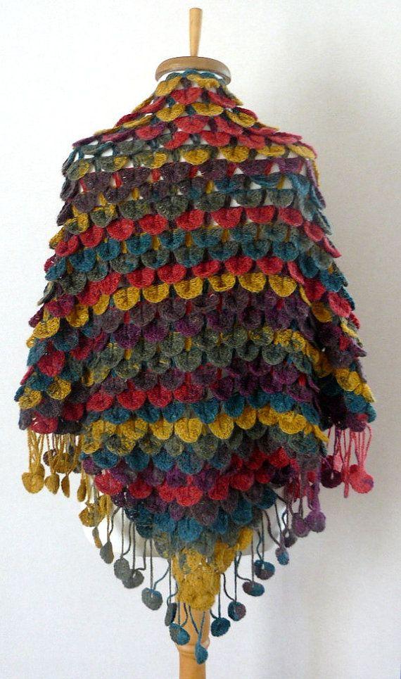 Vistoso Patrón De Crochet Libre De Cocodrilo Puntada Chal Regalo ...