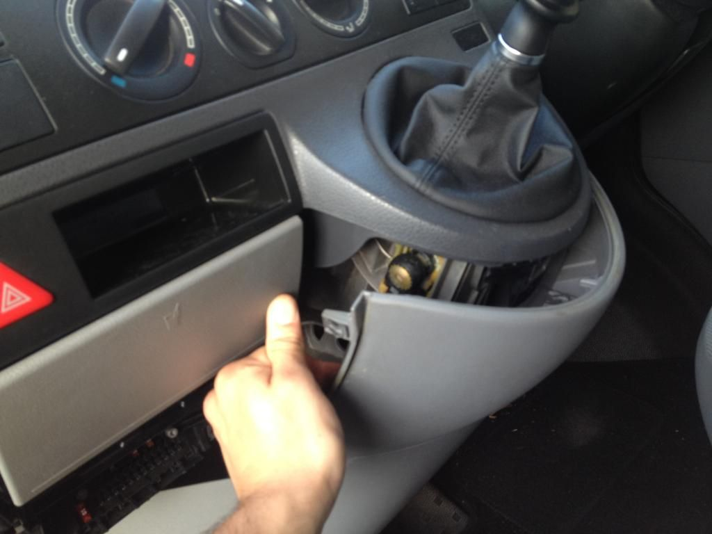 Removal of Drinks Holder with Pics - VW T4 Forum - VW T5 Forum | Van