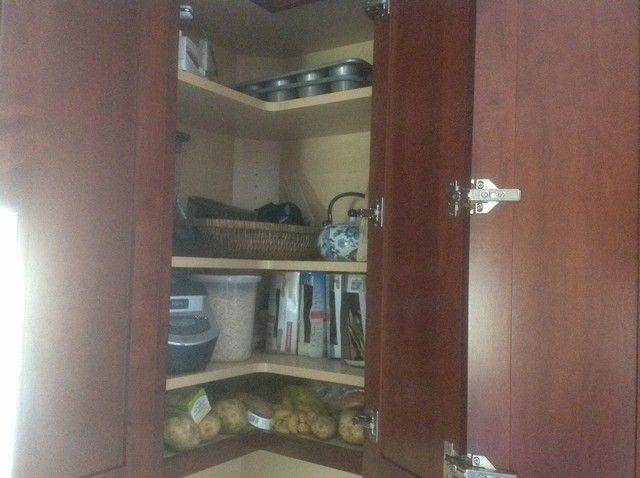 Easy reach corner cabinets | Tall cabinet storage, Cabinet ...