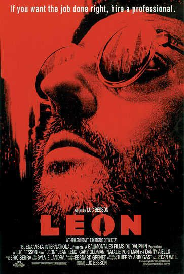 leon the professional movie poster red movie pinterest