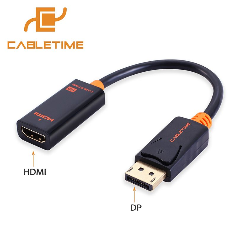 Cabletime Displayport Dp To Hdmi Cable Male Female Adapter Display Port Cable Converter 1080p For Projector Hp Dell Laptop N006 Hdmi Hdmi Cables Dell Laptops