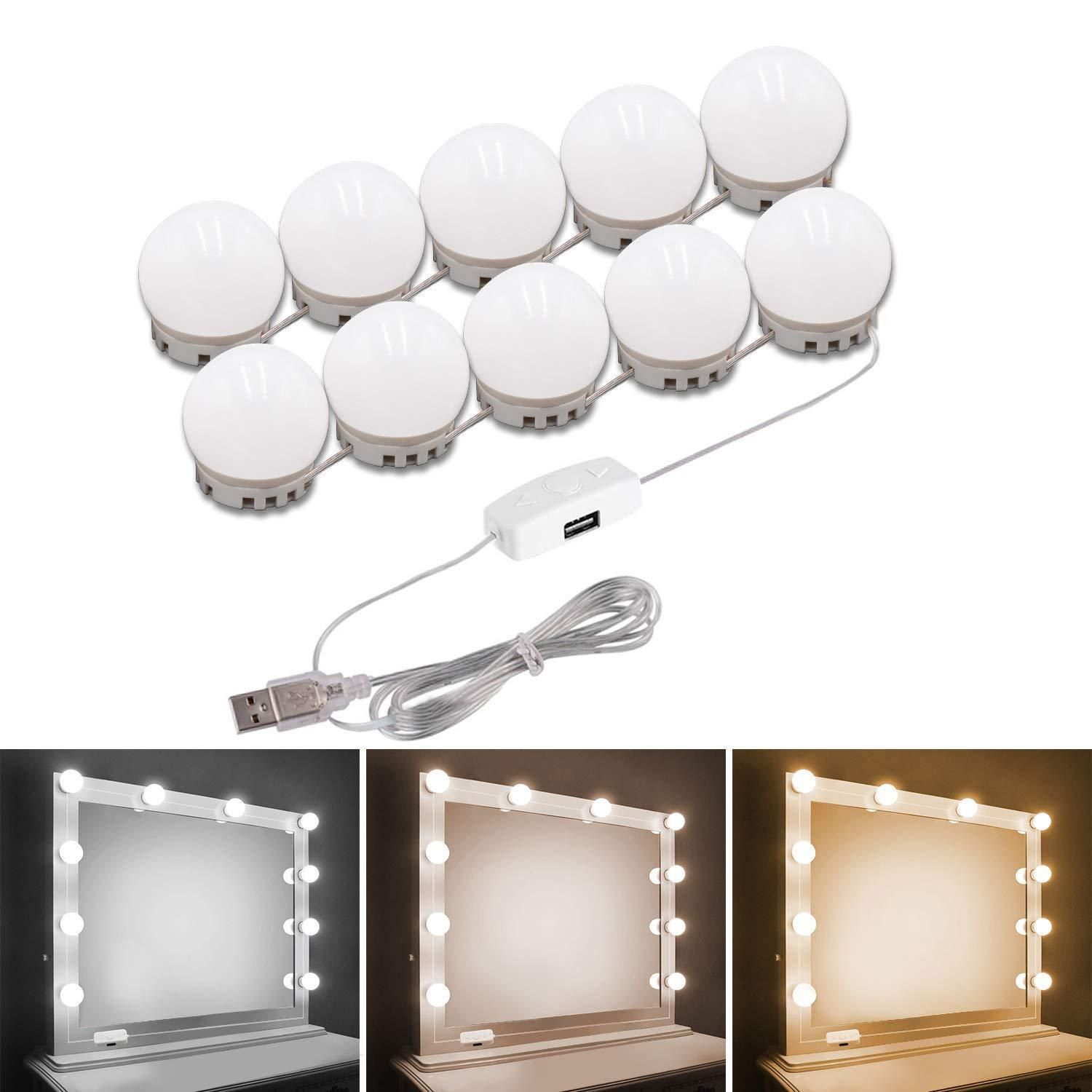 Makeup Vanity Mirror With Lights Hollywood Style Mirror Bulbs In