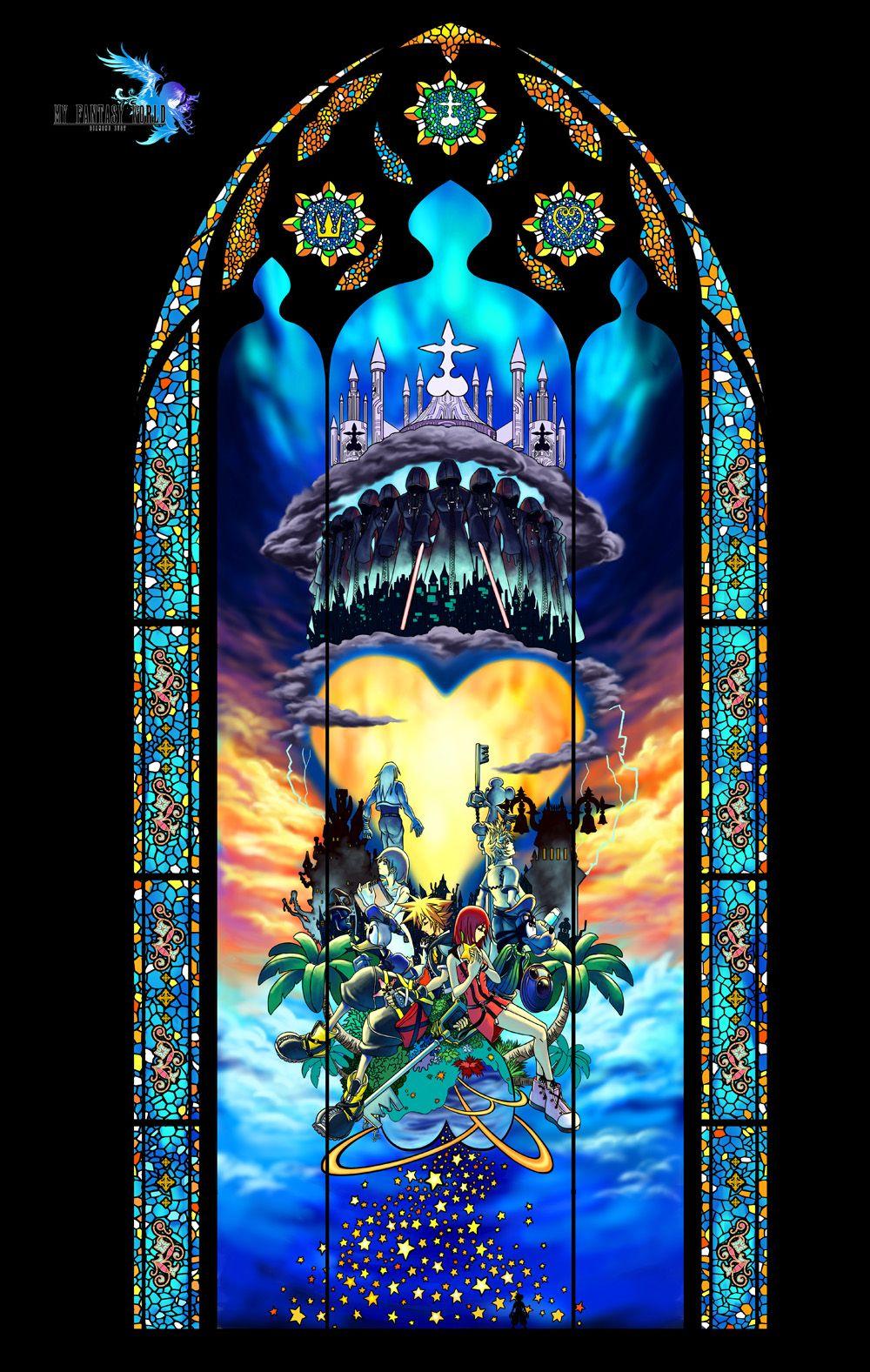 Kingdom Hearts キングダムハーツ 壁紙 キングダムハーツ ステンド