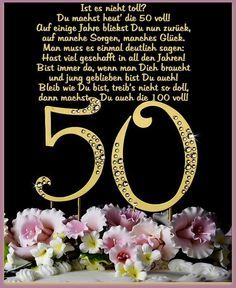 Geburtstagswunsche zum 50 geburtstag frau