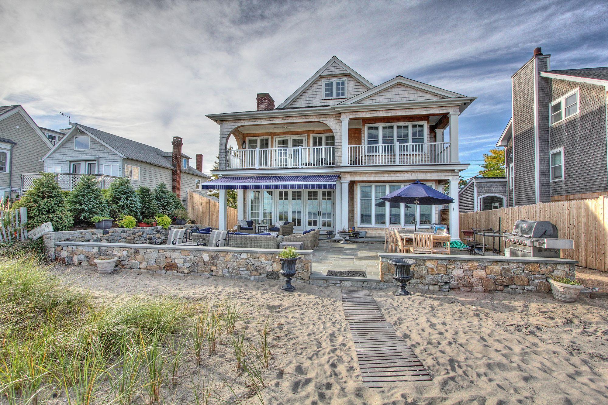 Fairfield Beach Connecticut Waterfront Homes Fairfield Beach Traditional Exterior