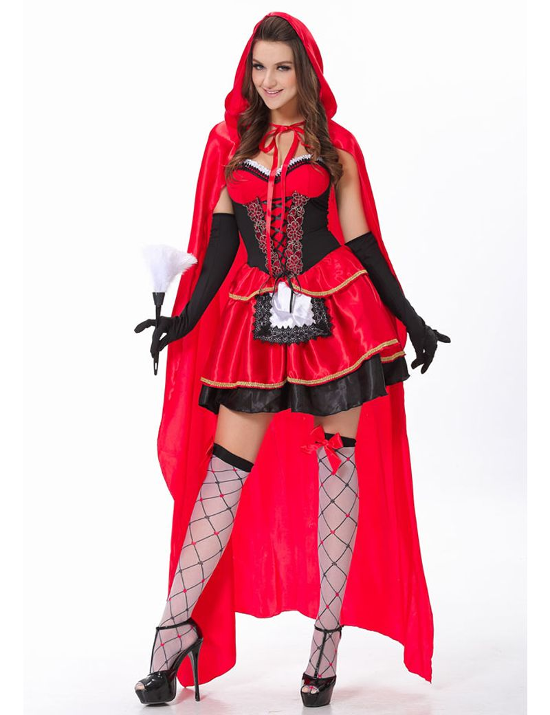 moonight high quality little red riding hood costume fancy adult hallowen dressing up christmas costumes m