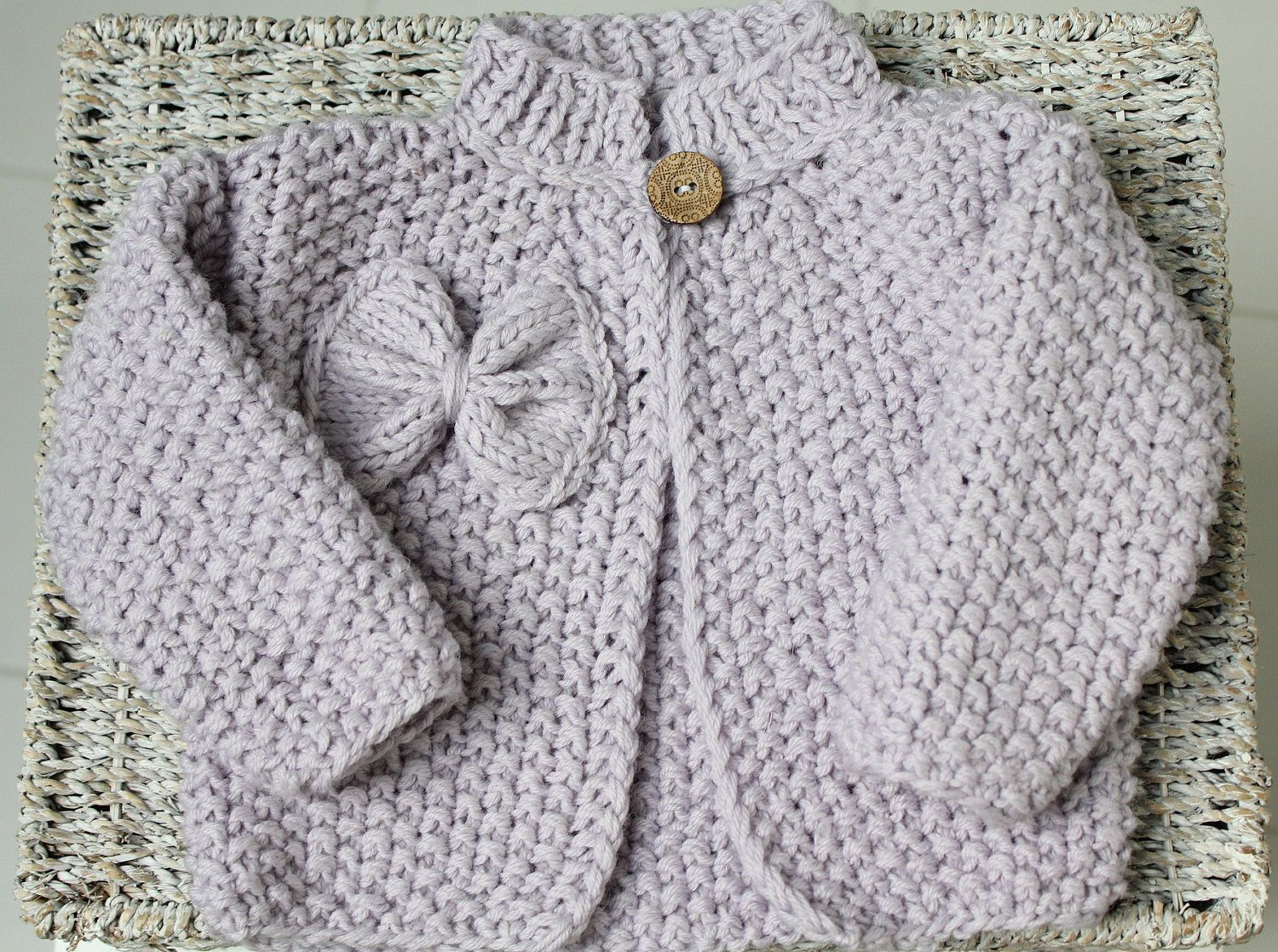 Baby girl Cardigan - Baby Girl Sweater - Cute baby sweater - Wool sweater - 6-9 months