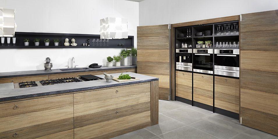 Houten kookeiland met betonnen aanrechtblad koken als een sterrenkok keuken pinterest - Centrale eiland houten keuken ...