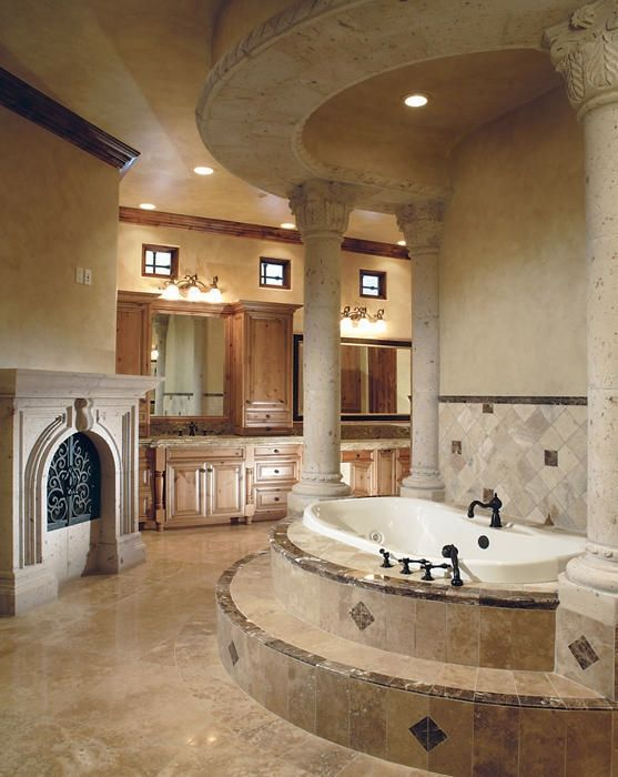My bro-in-law had a house with a bathtub like this. Including ...