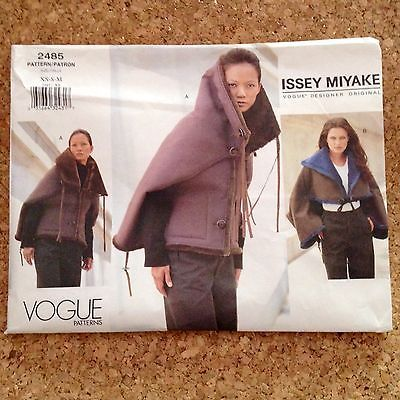 Issey Miyake Vogue Designer Jacket Pattern 2485 Uncut Sz 6-14 XS S M ...