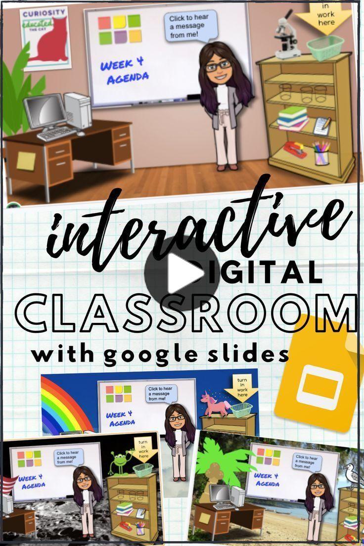 Make a Bitmoji Virtual Classroom with Google Slides in