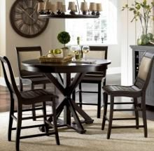 Willow Distressed Black Round Counter Table Grey Dining Tables Black Round Dining Table