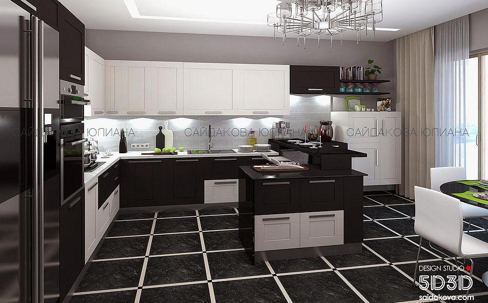 Дизайн кухни в загородном доме - Дизайн квартир, заказать или купить в Минске