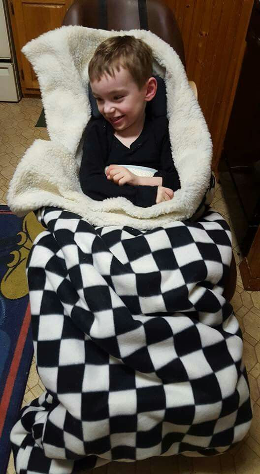 Wheelchair Poncho for special needs - DIY SLEEPING BAG