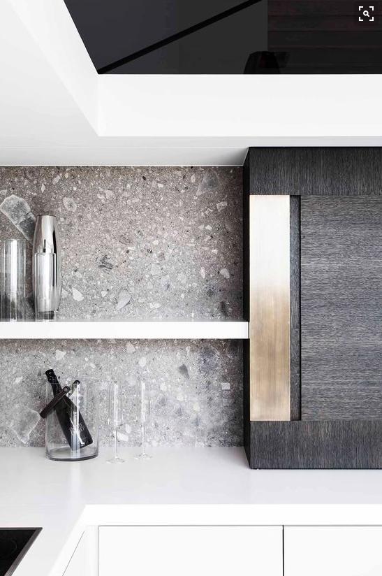grey stone backsplash || Ceppo di Gre | bathroom and dressing room ...
