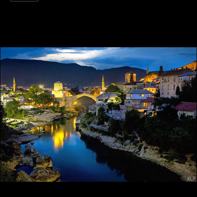 Mostar ...Old bridge by the night