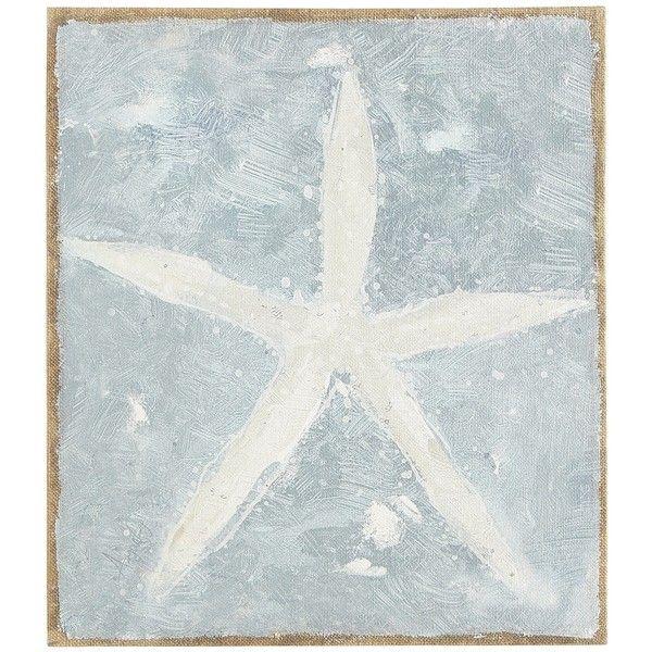 Pier 1 Imports Blue Burlap Canvas Starfish Art Starfish Wall Art Starfish Art Nature Canvas Painting
