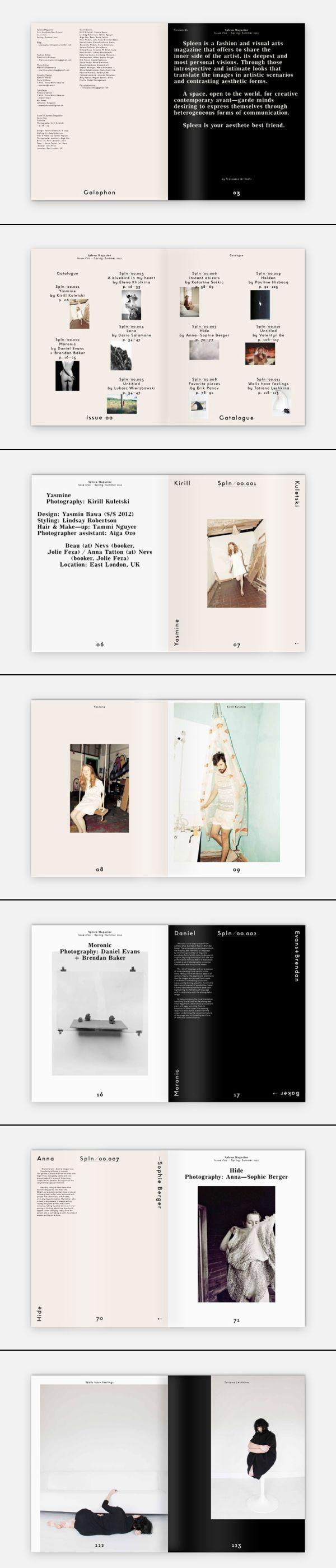 http://t-wo.it/2013/05/29/spleen-magazine-00/ #magazine #editorial #layout #spread