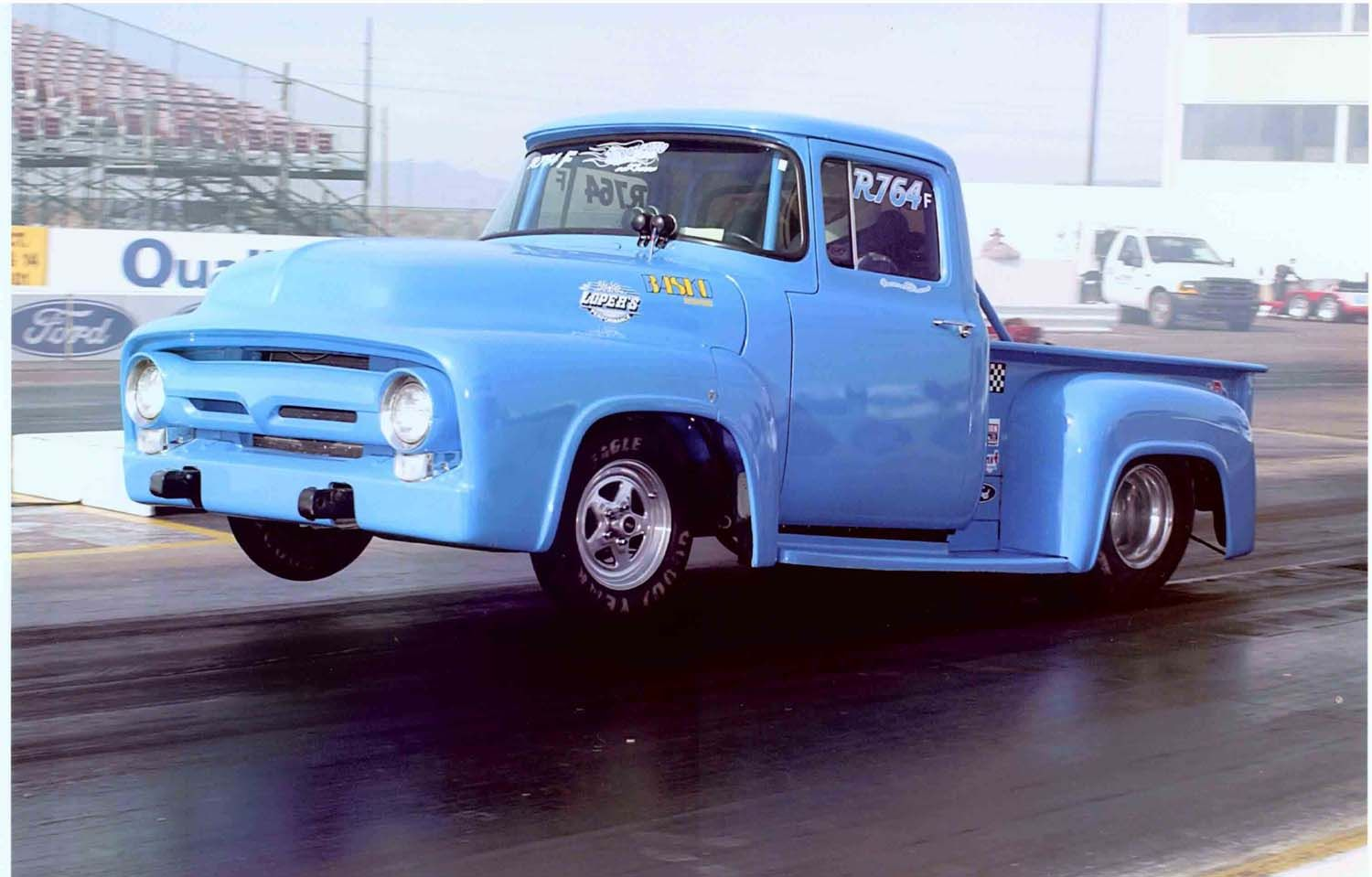 shane becker s blue 56 ford pickup the whole truck including cage and  [ 1500 x 959 Pixel ]