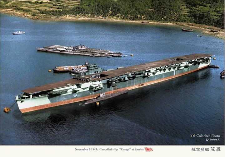 Nov. 1945, the Japanese imperial navy fleet Carrier Kasagi. It was never deployed due to the surender of Japan.
