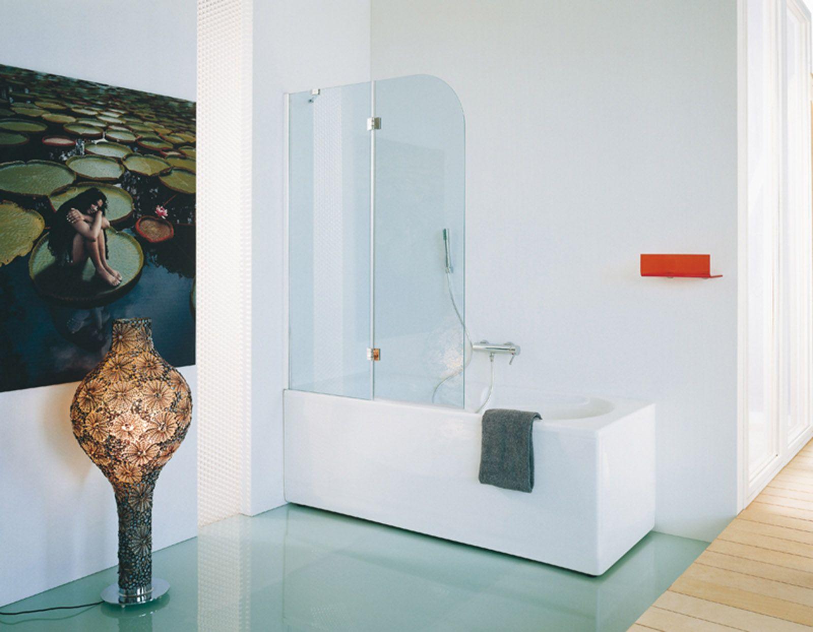 La doccia nella vasca aggiungendo un pannello Vasche