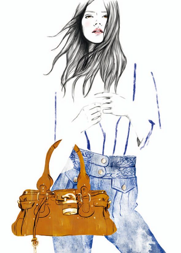 Chloé Collection 60e Anniversaire l Illustrations by Sandra Suy