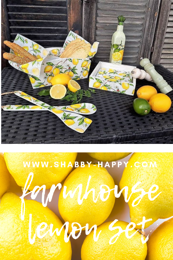 Farmhouse lemon kitchen set. The perfect addition to your