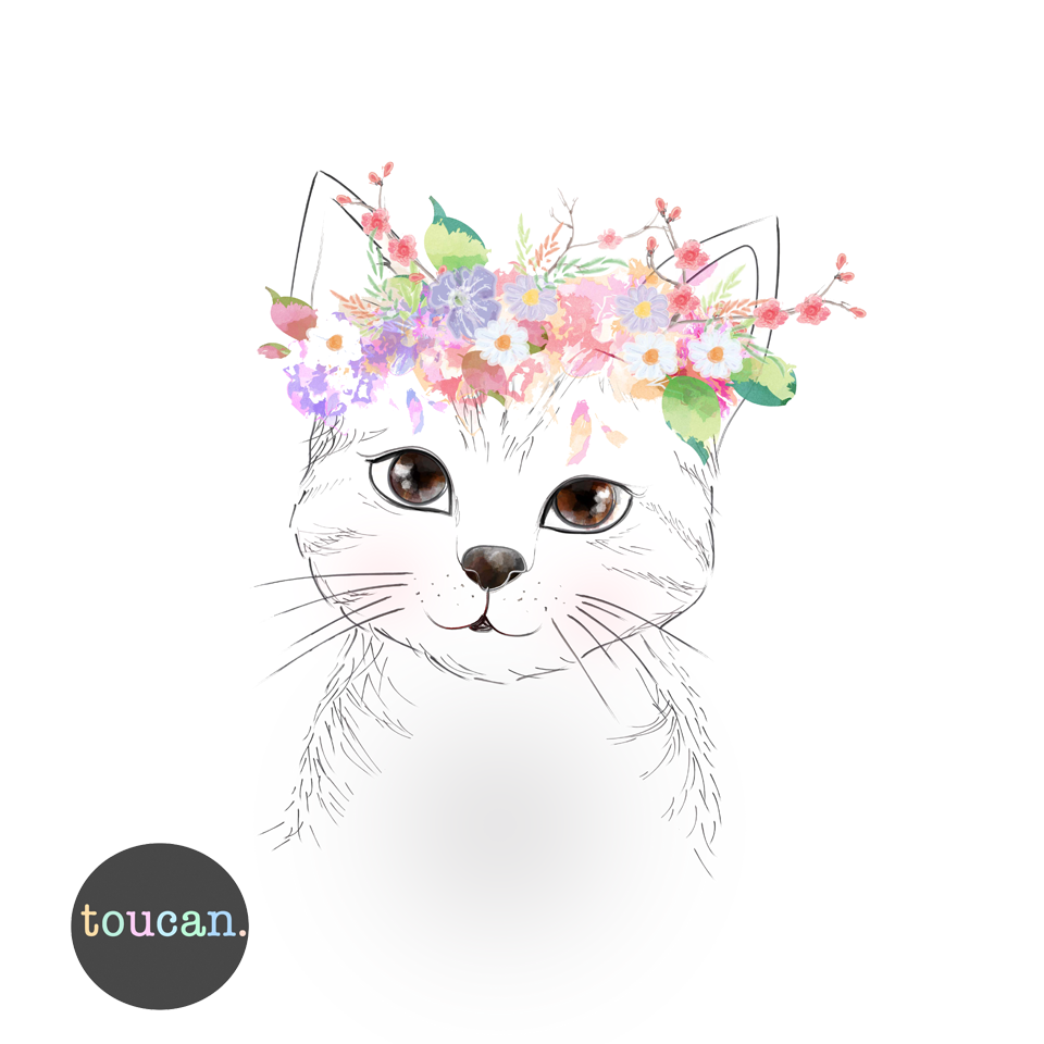 Flower Crown Png Cat Drawing Pictures Picturesboss