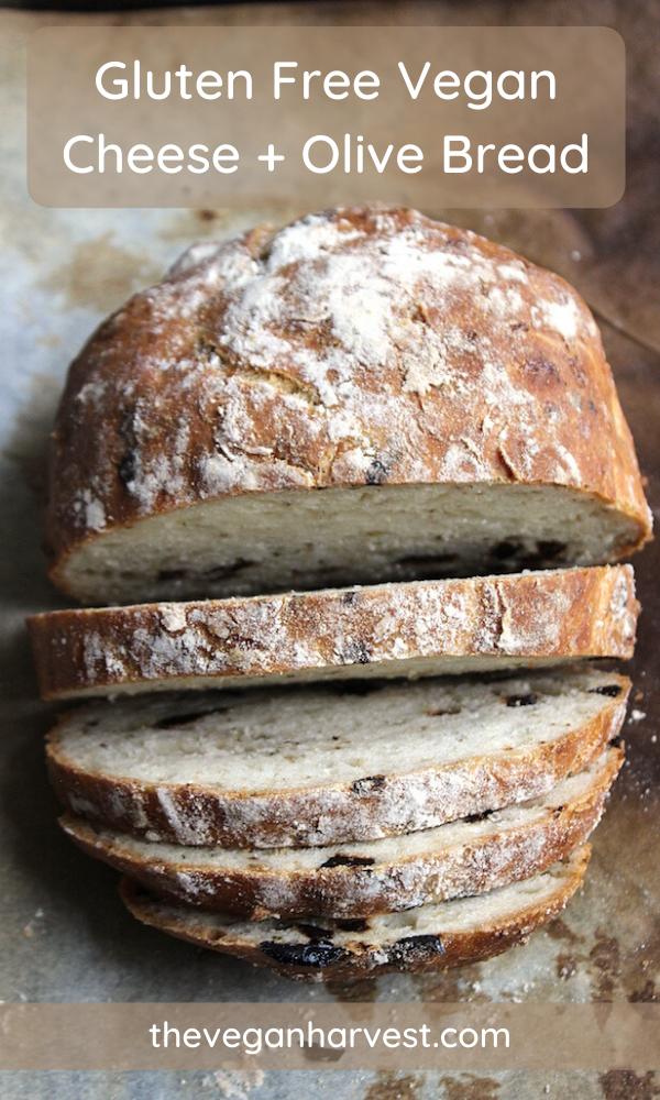 Gluten Free Cheese Olive Bread The Vegan Harvest In 2020 Gluten Free Vegan Bread Vegan Bread Recipe Gluten Free Sweet