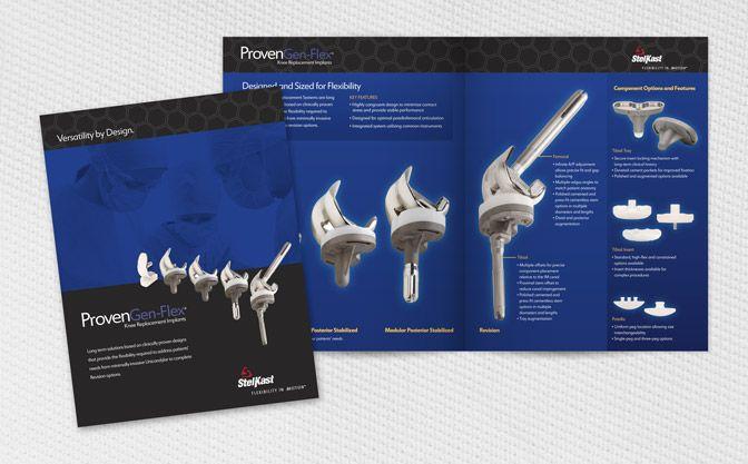Brochure Design StelKast Knee Replacement MichaelRobert Design - sales brochure