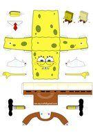 스펀지밥 종이모형 전개도 Spongebob