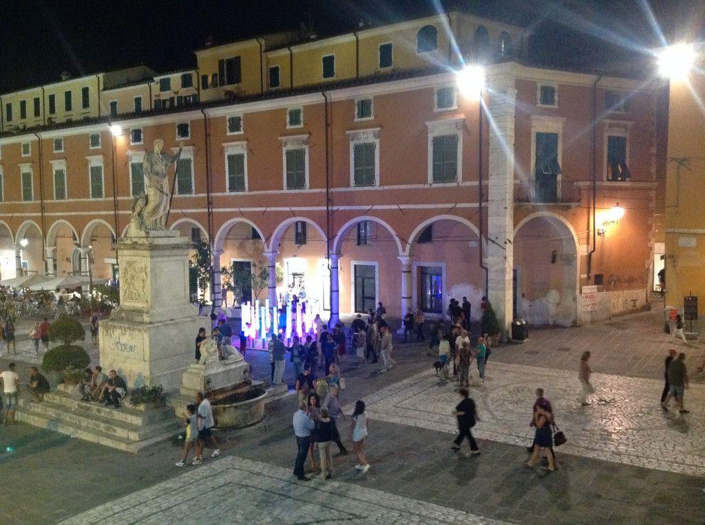 Piazza Alberica (Carrara), durante Carrara Marble Weeks 2014 - photo by Arianna Marchetti