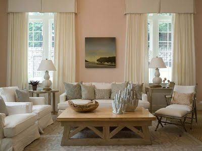 Pink Walls Peach Living Rooms Pink Living Room Home