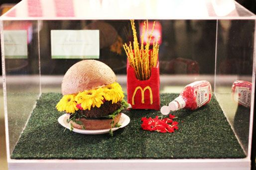 Photo Of The Day: Burger, Fries, And Ketchup Flower
