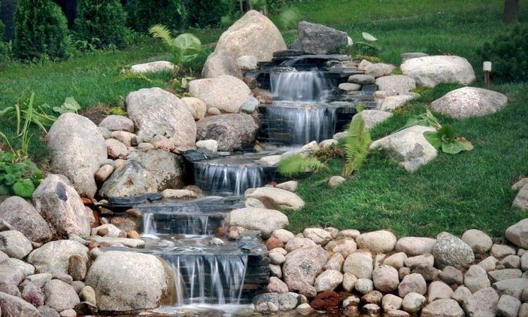 Cascade bassin de jardin en 18 idées de conception ! Pinterest