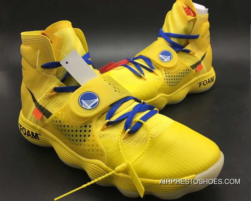 Copuon Off White X Nike Hyperdunk 2017 'Warriors' Yellow