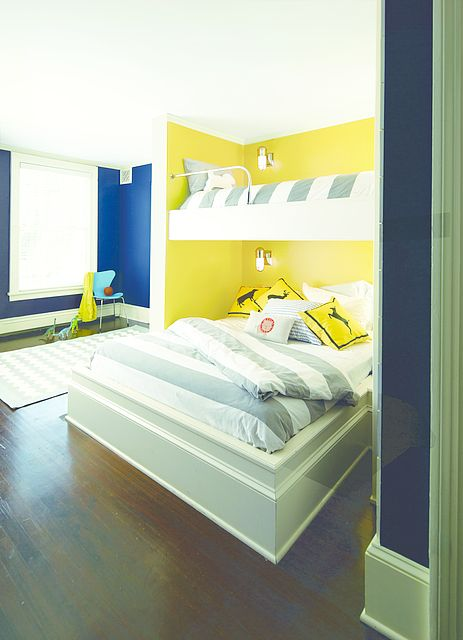 Primary Play! Main Wall Color: Yellow Highlighter - Back Wall Color ...
