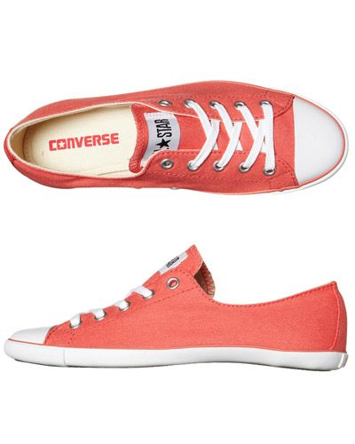 Converse Womens Chuck Taylor All Star Light in Coral. I love how thin the  sole