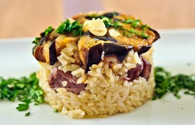 LEBANESE RECIPES: Upside down rice, meat and vegetables recipe