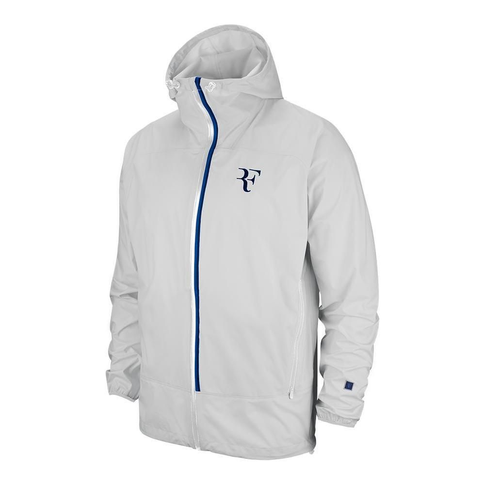 Nike Court Hypershield Rf Tennis Jacket Mens M White Blue Void Federer Nike Trackjacket Tennis Clothes Nike Clothes For Women