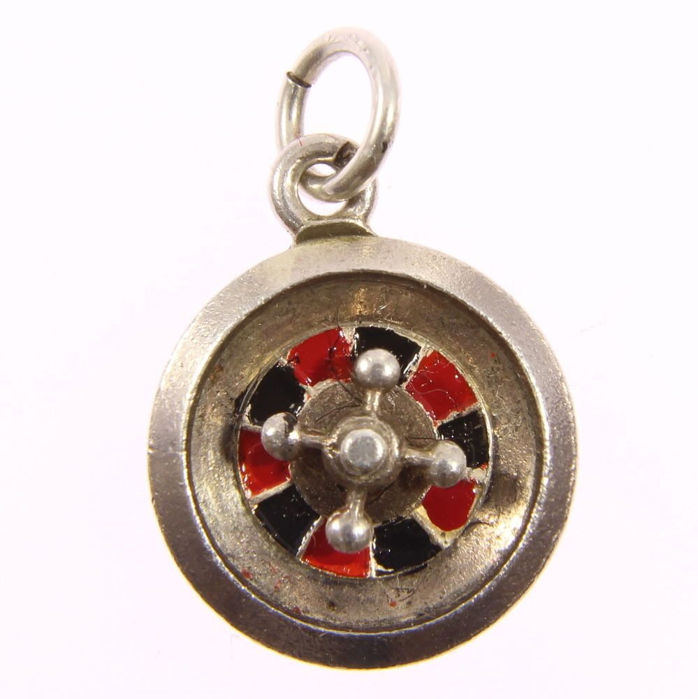 Wooden roulette buy black wooden roulette blackjack table led - Vintage Sterling Silver Casino Roulette Wheel Turret Rotates Charm Pendant In Jewellery Watches Fine