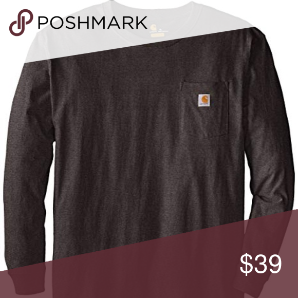 Carhartt Men S Workwear Pocket Long Sleeve T Shirt Mens Workwear Long Sleeve Tshirt Men Carhartt Mens