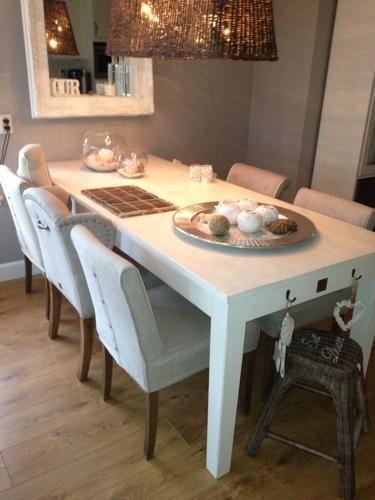 Riviera Maison - mooie vloer - stoelen - Love - it - Eethoek ...