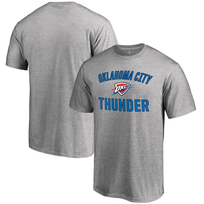 Oklahoma City Thunder Big   Tall Victory Arch T-Shirt - Ash ... 08fb54321