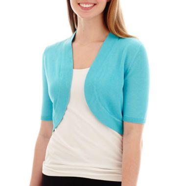 Worthington® Elbow-Sleeve Bolero Shrug Sweater found at @JCPenney ...