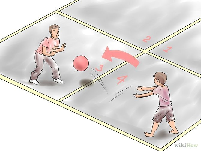 How To Play Four Square Four Square Physical Activity Games Summer Fun For Kids